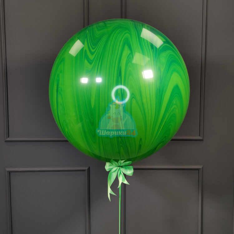 Большой зеленый шар агат
