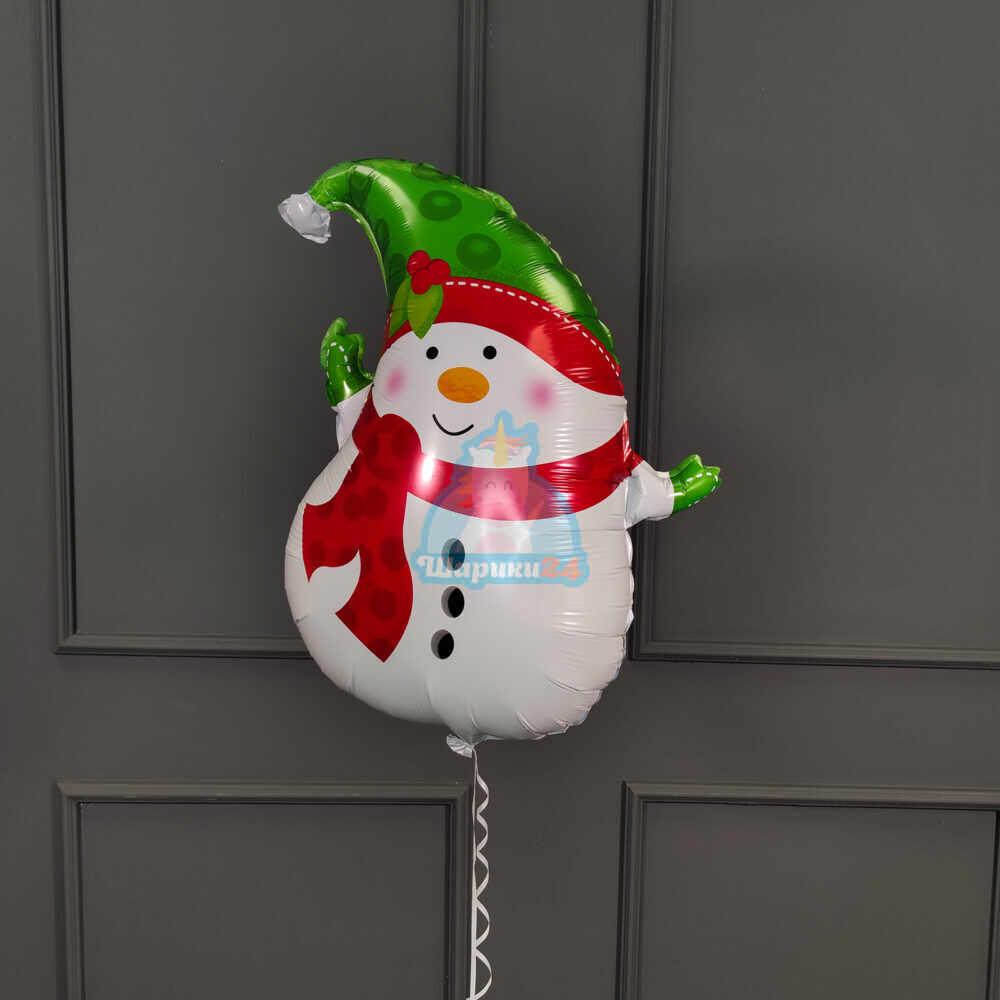 Фольгированный снеговик маленький