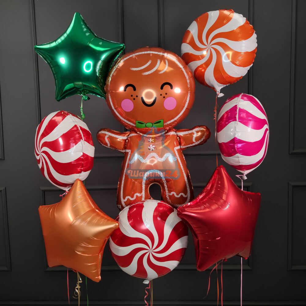 Композиция праздничная с печенькой на новый год