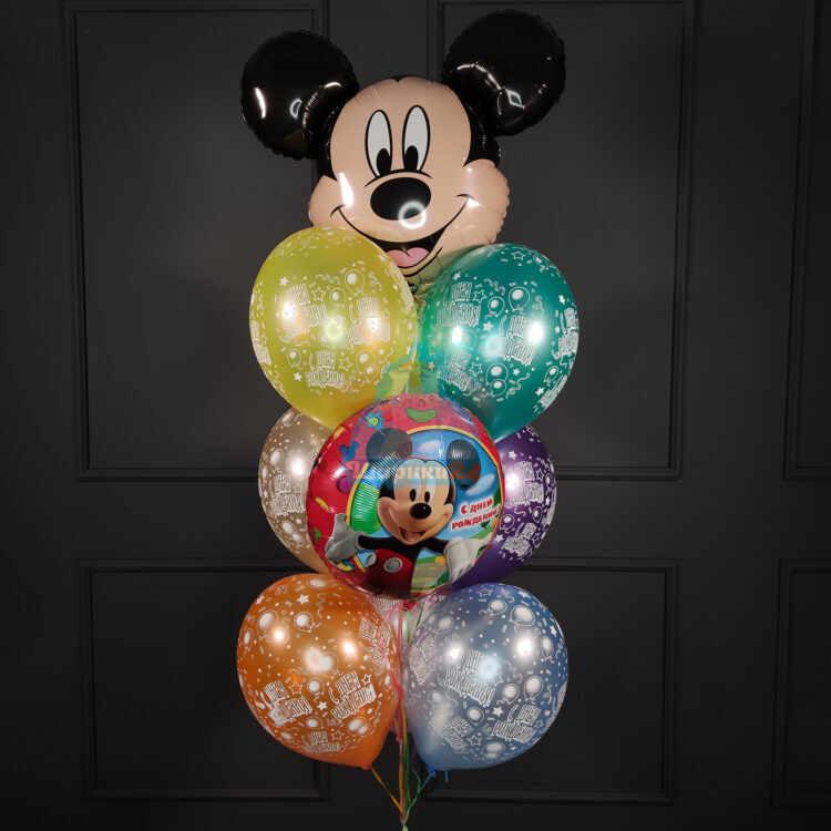 Композиция из воздушных шаров на Днем Рождения ребенка с Микки Маусом