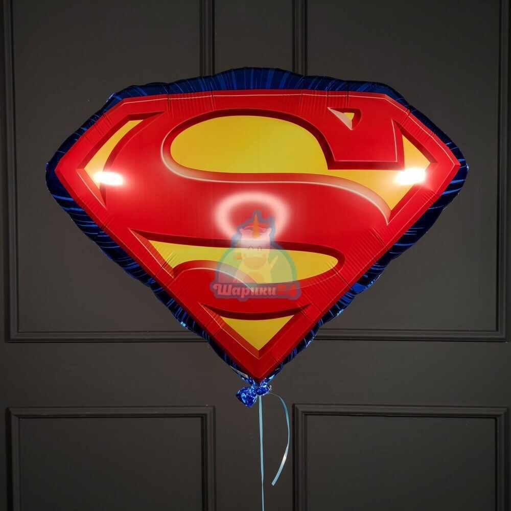 Фольгированный шар эмблема Супермена