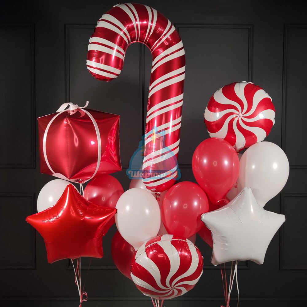 Композиция из шариков на Новый Год!