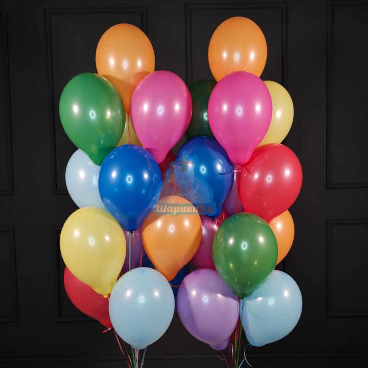 Воздушные разноцветные шарики пастель