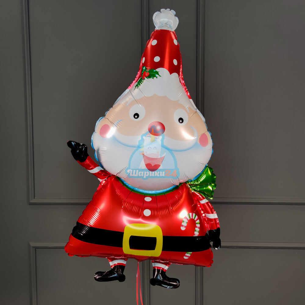 Фольгированный Санта веселый