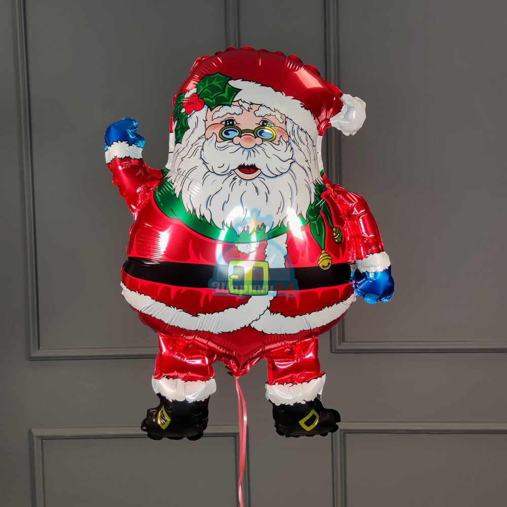 Фольгированный Санта  в очках