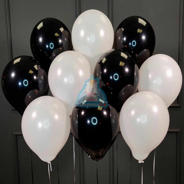 Гелиевые шары черные и белые