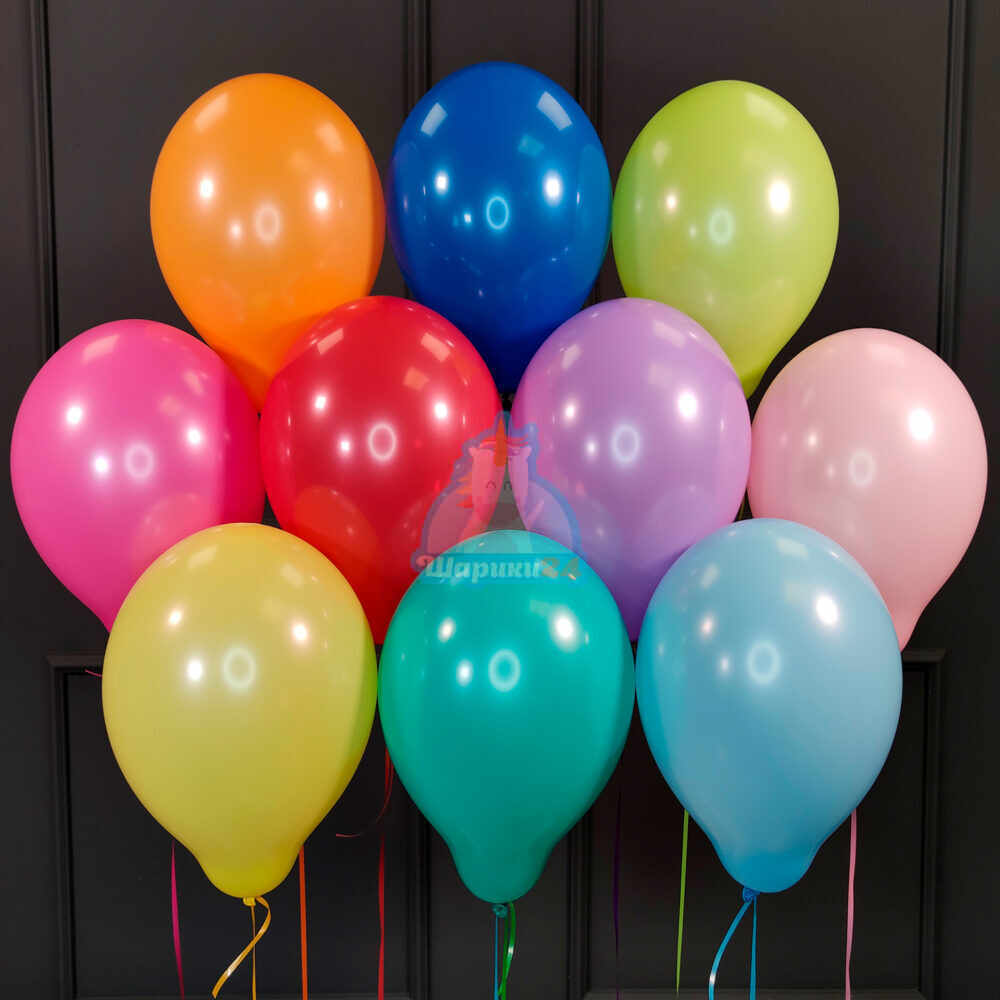 Воздушные разноцветные шарики пастель 200 шт.