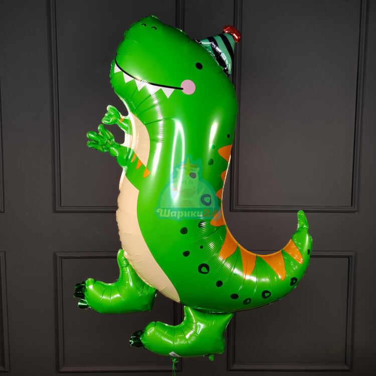 Фольгированная фигура Динозавр с колпачком
