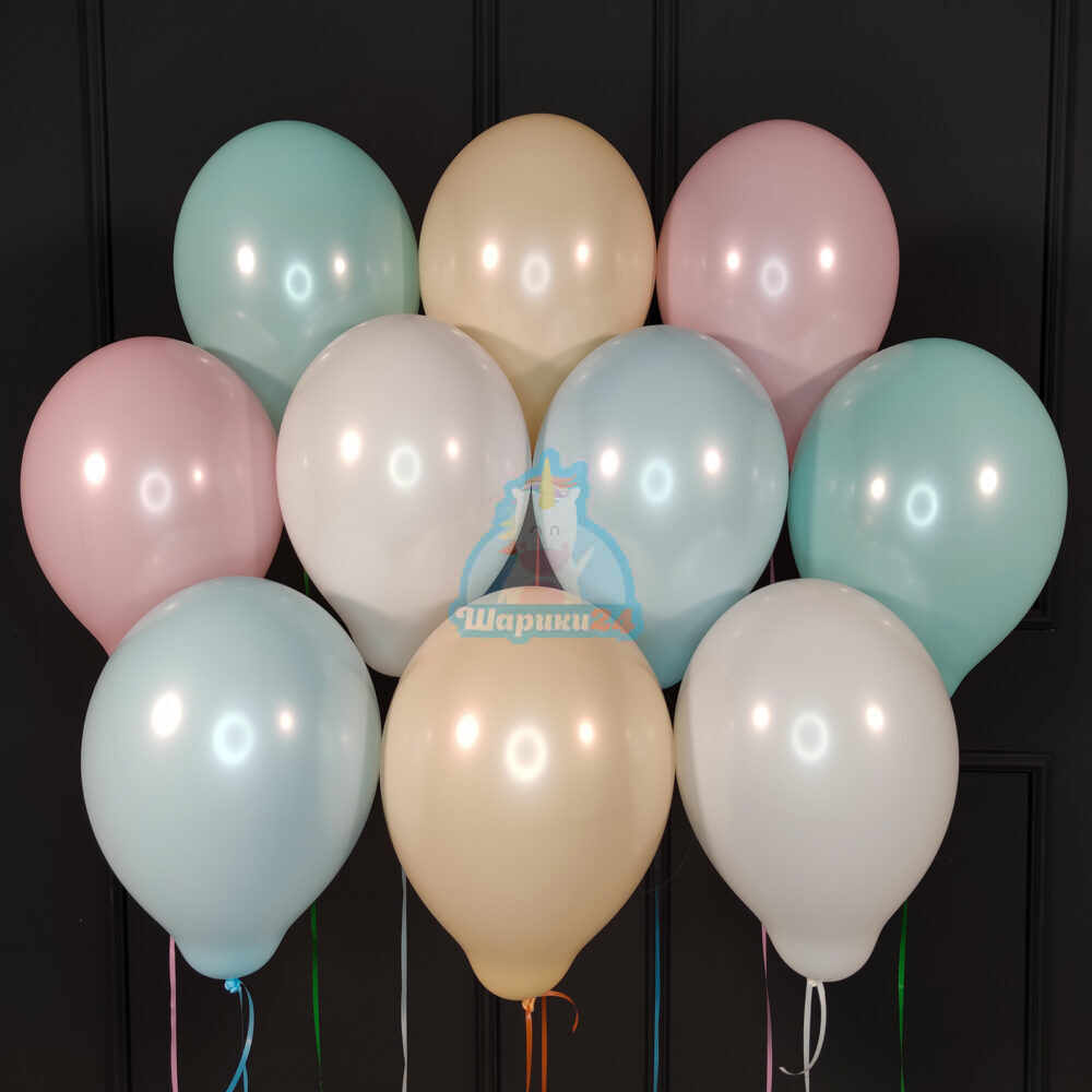 Гелиевые шары нежное ассорти пастель