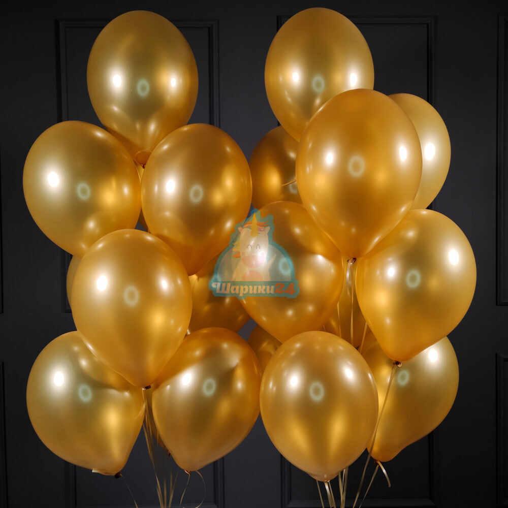 Воздушные шарики золотые на день рождения мужчине