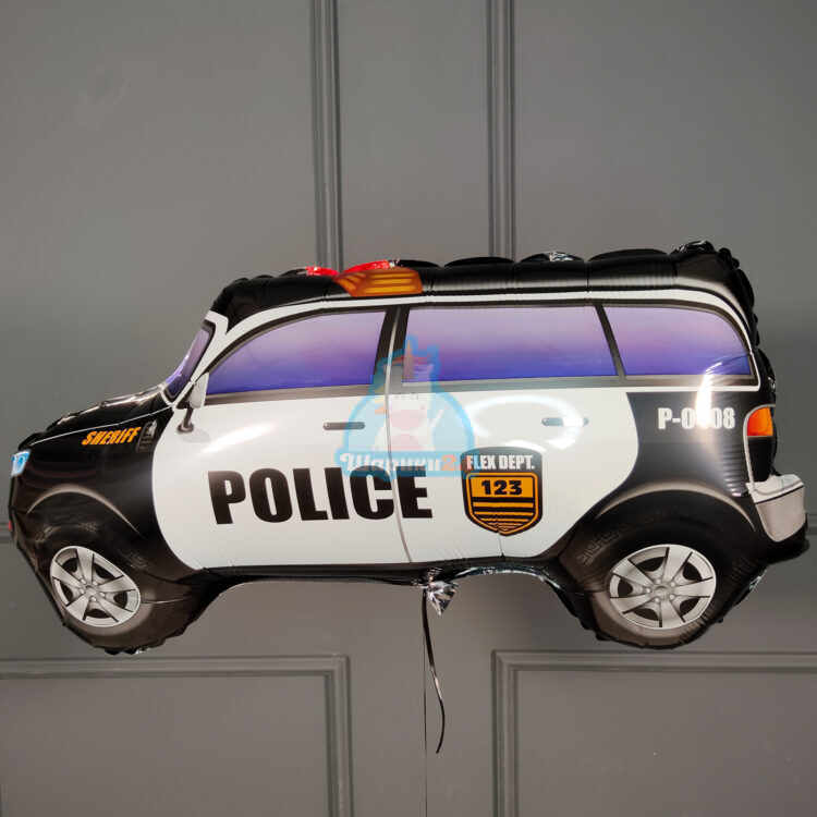 Фольгированная фигура джип полиция