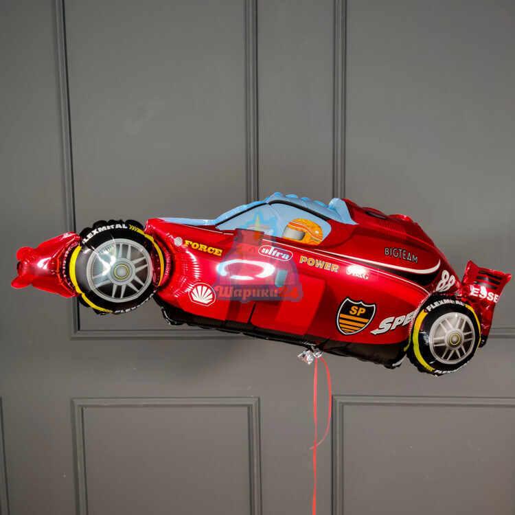 Фольгированная фигура гоночный балид красный