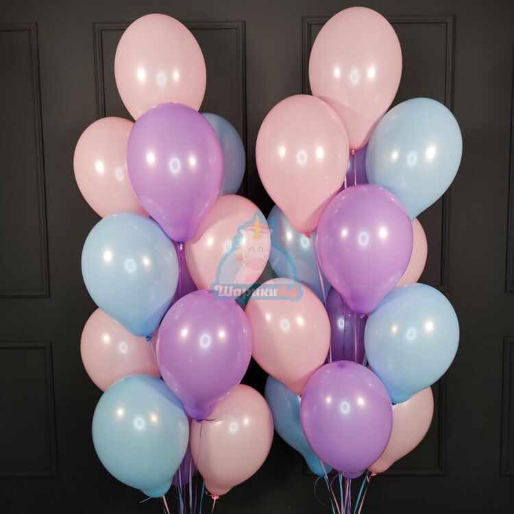 Воздушные шарики ассорти нежные цвета