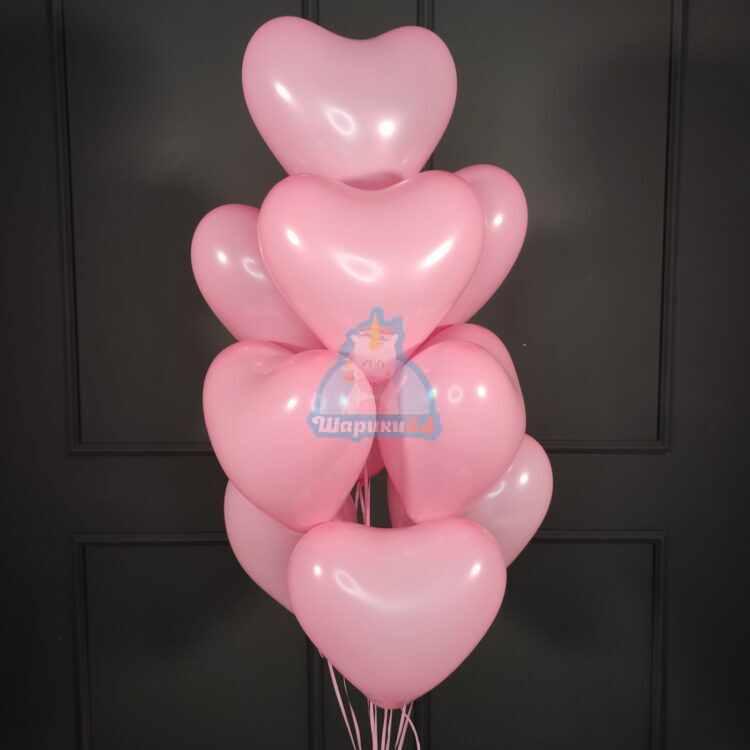 Латексные розовые сердца