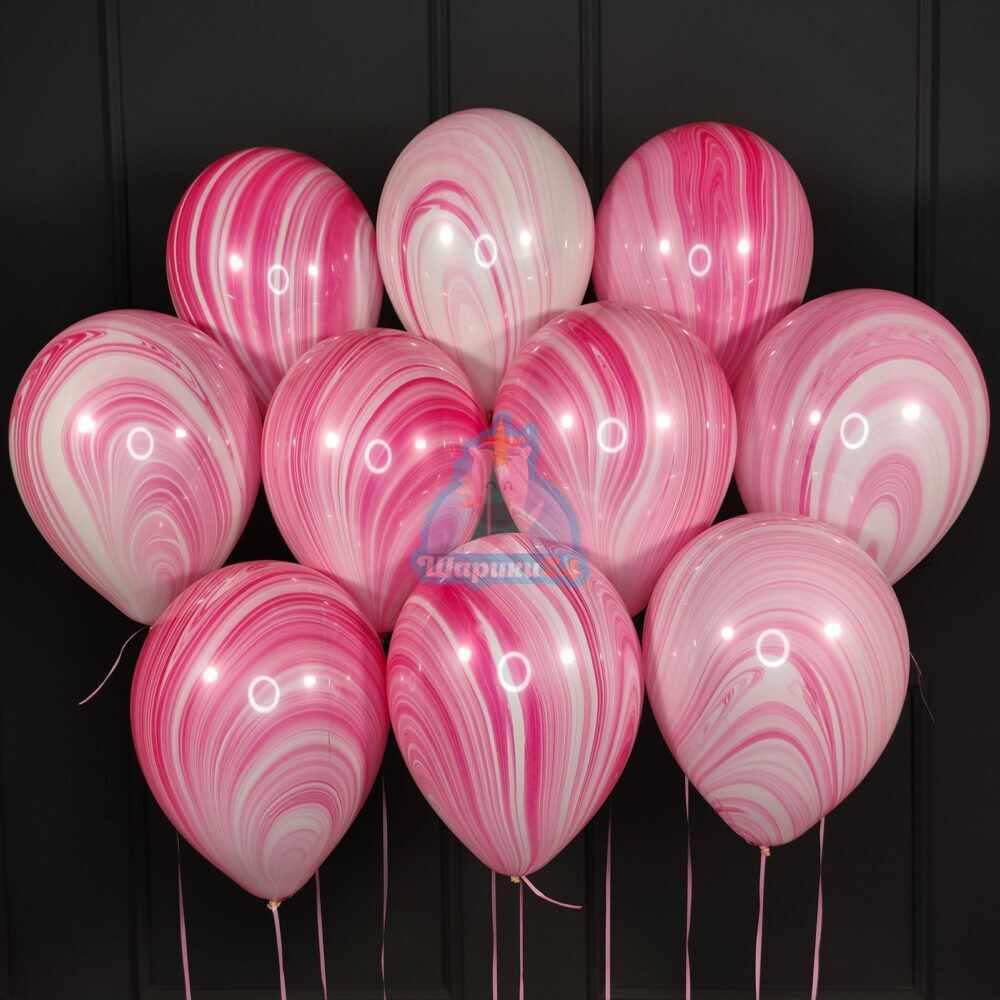 Шары под потолок розовый агат