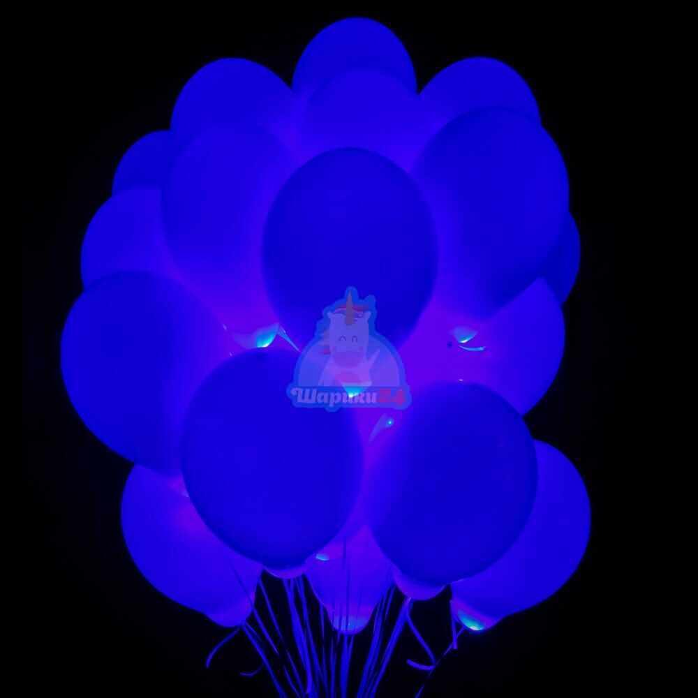 Светящиеся шары с синими светодиодами