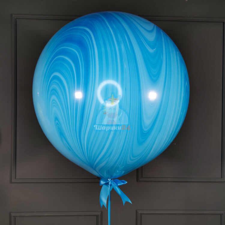 Большой голубой шар агат