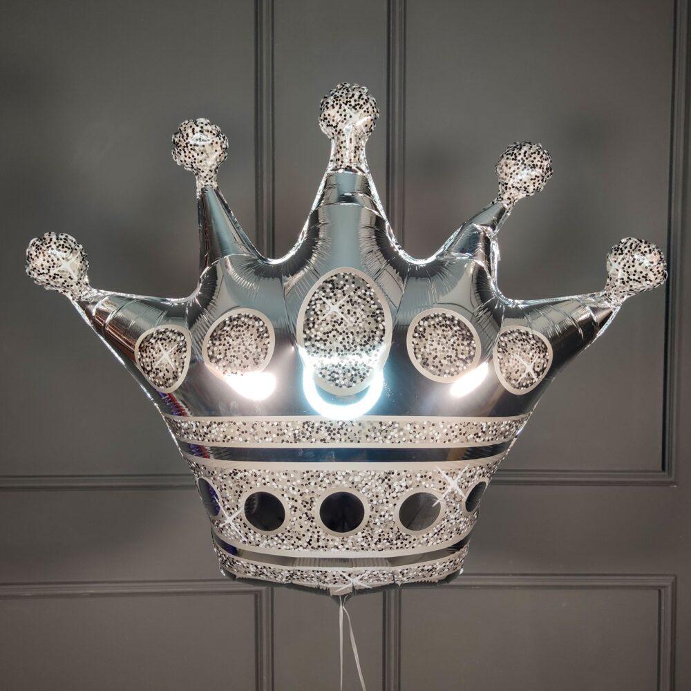 Фольгированная корона серебряная