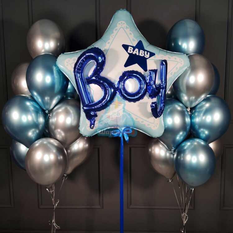 Композиция на выписку для мальчика С большой 3D звездой Baby Boy