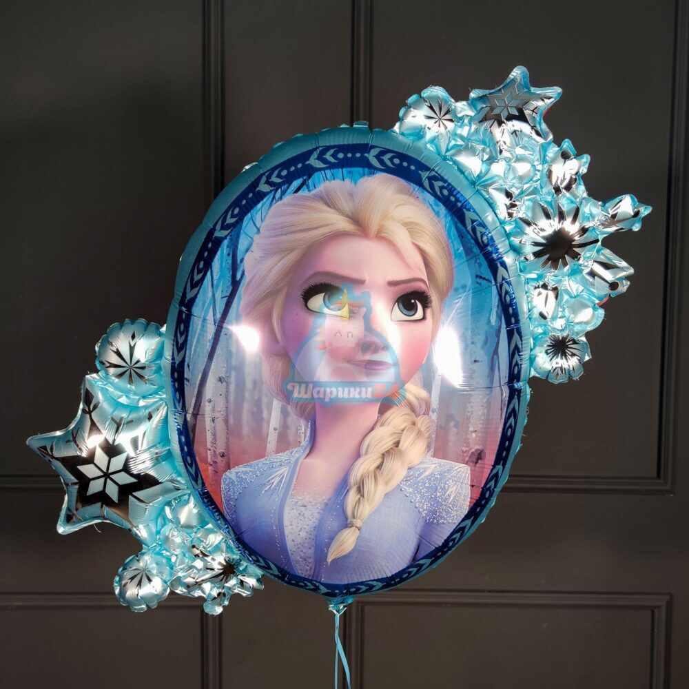 Большой фольгированный шар Холодное сердце Эльза