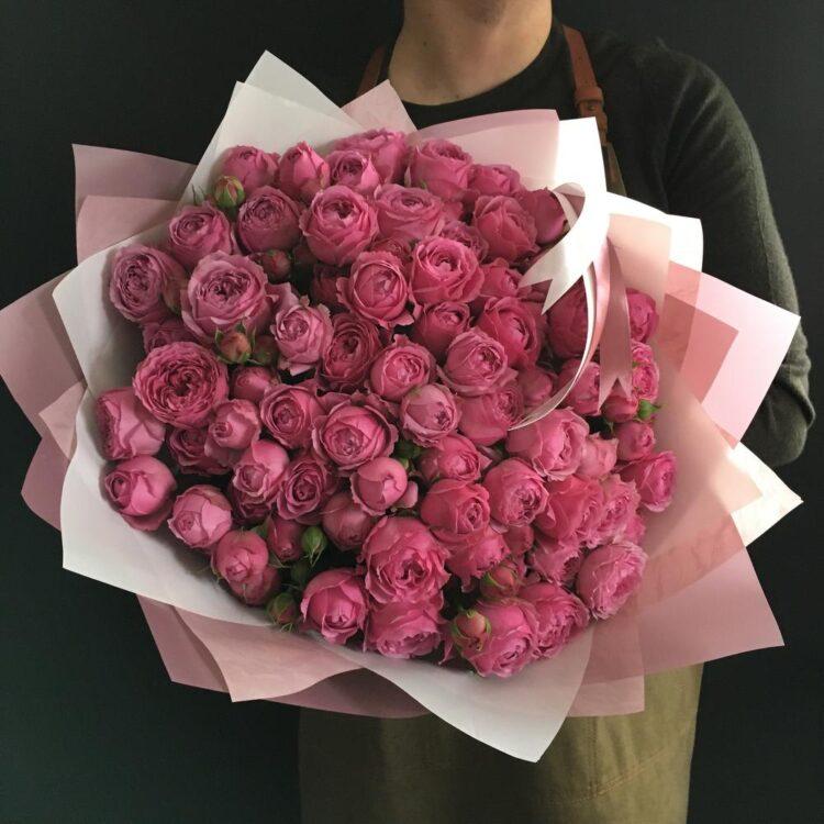 Кустовая роза Мисти 51 шт