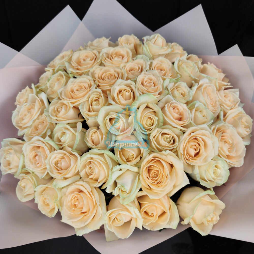 Букет из 51 розы Пич Аваланж