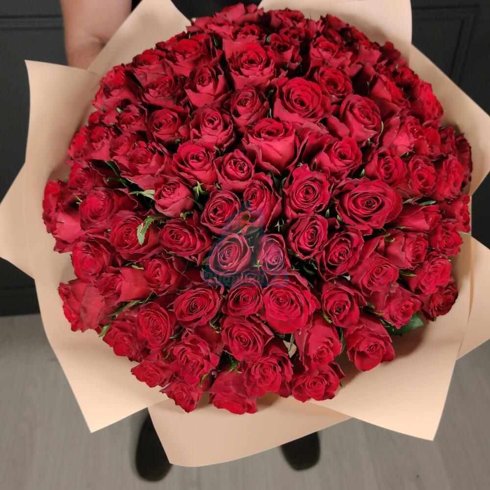 Букет из 101 красной розы 40 см
