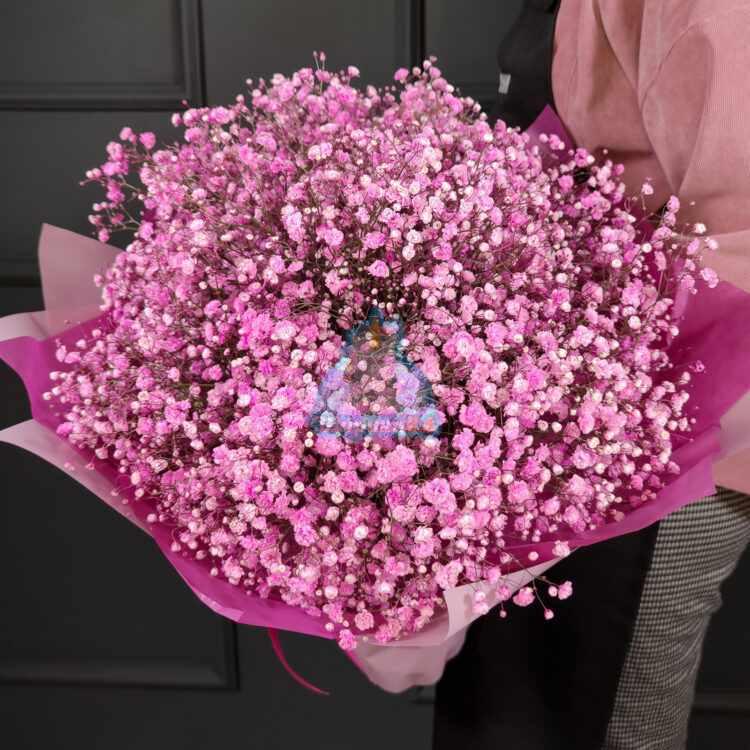 Букет розовой гипсофилы