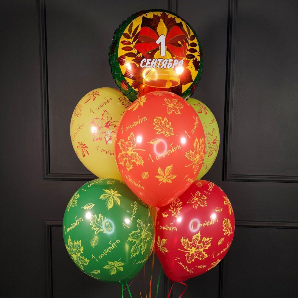 Фонтан на 1 сентября с кругом и шарами