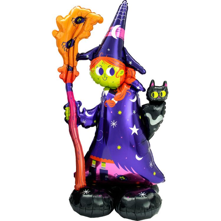 Ходячая фольгированная фигура Ведьма
